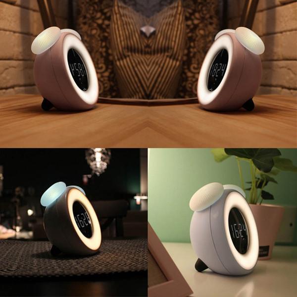 4 Farben Pilz Pilz Wake Up Wecker LED Licht Nacht Lampe Digital Wecker Touch Sensor Morgen aufwachen