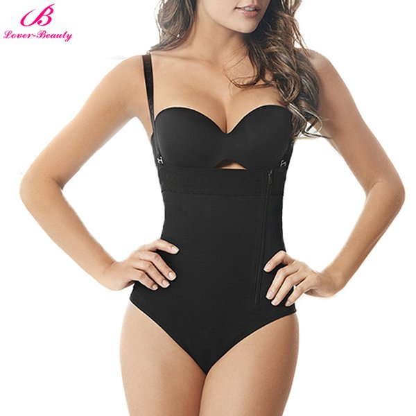 Atacado Tummy Controle Cueca Zíper Cuecas Tanga Bodysuit Mulheres Shapewear Feminino Magro Shaper Do Corpo Slip Body Shaper