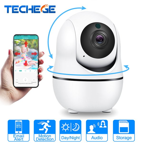 Techege 1080P Smart Wireless IP Camera Audio Wifi Security CCTV Camera Home Alarm 2.0MP Surveillance Camera Indoor PTZ Camara