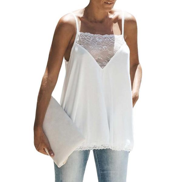 2018 New Fashion hot Off-shoulder Sexy Women Sleeveless blouse T-shirt Casual Loose Irregular Tank Top Women's Clothing