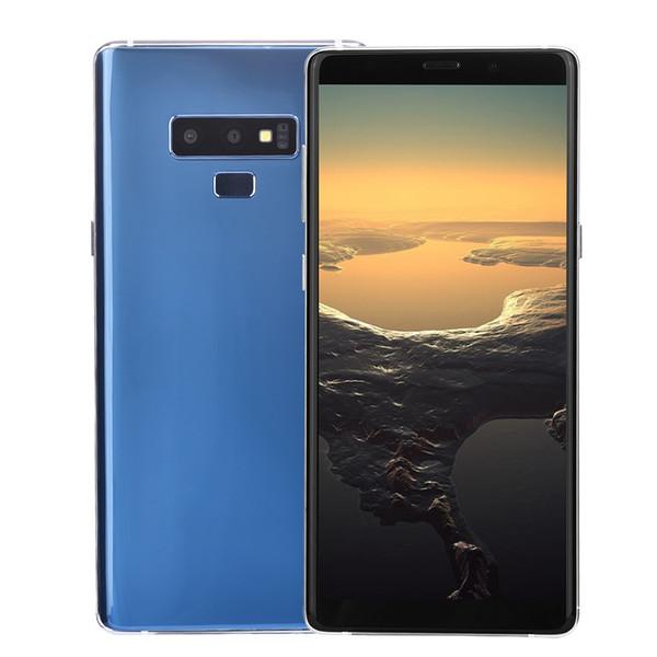 3G WCDMA Goophone Note9 Note 9 V2 1GB 16GB Face ID Android 7.0 GPS 6.3 pulgadas Curvado de pantalla completa Marco de metal Smartphone Negro Oro Rojo Azul