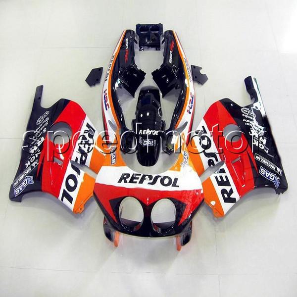 Colores + Regalos Molde de inyección Repsol Rojo Motocicleta Carenado para HONDA CBR250RR MC22 1990 1999 90 99 Kit de plástico ABS