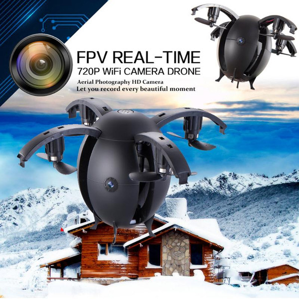 2018 Egg Shaped Mini Done With Camera 0.3MP 668-A6HW RC Quadcopter Wifi APP Control Selfie Drone Helicopter Aircraft FPV Dron