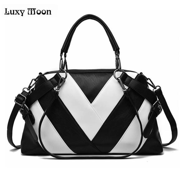 LUXY MOON women bag fashion Lady Top-handle bags 2018 patchwork handbags High capacity package female bag ladies daily handbag