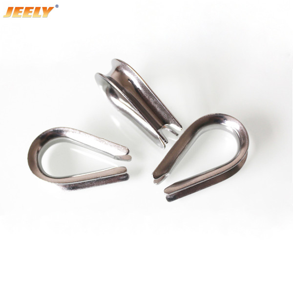top popular Free Shipping Europe 304 Stainless Steel Wire Winch Rope Thimble M4-M22 marine boat hardware 2019