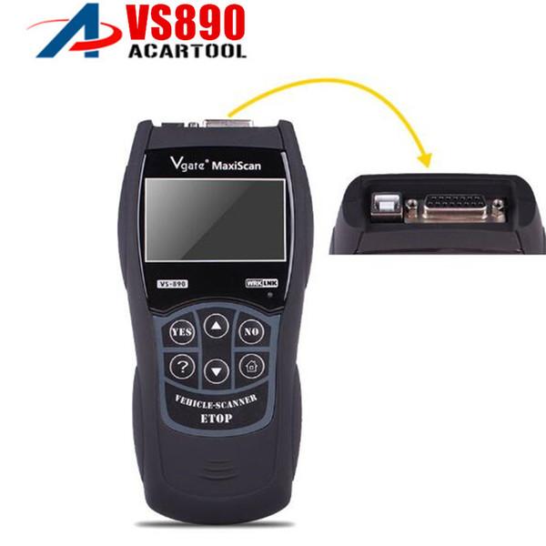best selling Best price VS890 OBD2 Code Reader Universal VGATE VS890 OBD2 Scanner Multi-language Car Diagnostic Tool Vgate MaxiScan