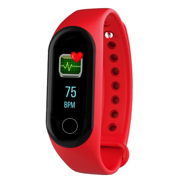 Monitor OLED M3 Smart Fitness Braccialetto per cardiofrequenzimetro Smart Band Pedometro Activity Tracker Sport Wristband