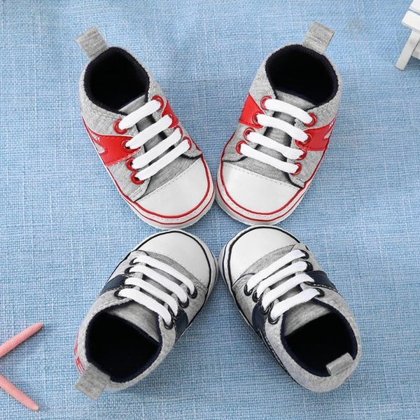 Canvas Baby Shoes Sneakers Newborn Baby Boys Girls First Walkers Infant Toddler Soft Rubber Sole Anti-slip Shoes