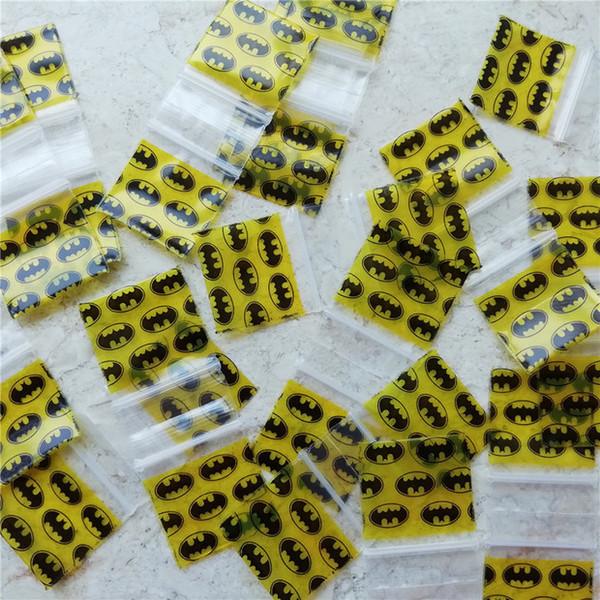 """5MIL 1010 Small Ziplock bags Design Batman Baggies bags 1"""" X 1"""" Zip Plastic Lock bagg"""