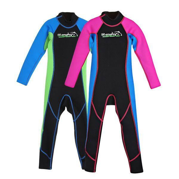 Wetsuit Neoprene kids Sleeveless Diving Rash guard Pants Swimsuit Diving Anti-Jellyfish Cool Snorkeling Suit Trunks