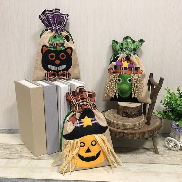 Halloween Decor Gift Wrap Reticule Children Kids Witch Pumpkin Festive Party Perform Cookies Apple Drawstring Bag 8 5st bb