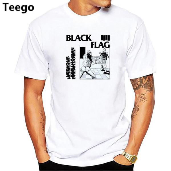 2fe9db4f2 2018 Men Print Black Flag -shirt Short Sleeve O-Neck Summer punk rock band