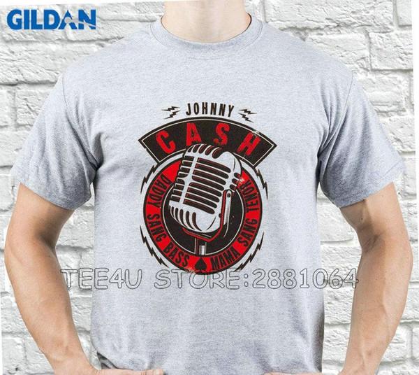 Tee4U Kundenspezifische T-Shirts Johnny Cash Daddy Sang Bass Rundhalsausschnitt Neuheit Short Tees für Männer