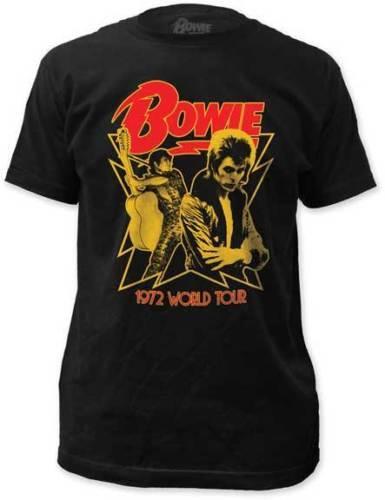 David Bowie 1972 World Tour Camiseta S-M-L-Xl-2Xl Nova Marca Oficial Camiseta T Shirt Dos Homens do Sexo Masculino Top Design de Manga Curta Camisas de T Personalizado