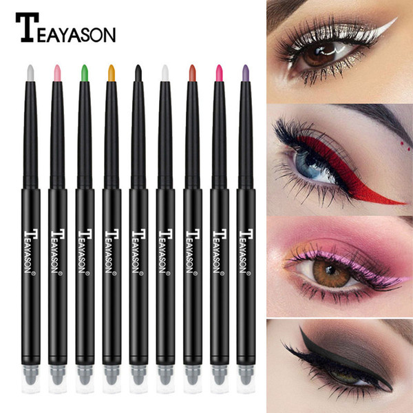 Double-end Colorful Matte Eyeliner Eye Pencil Trucco pastello Yeux Oogpotlood Delineador Maquiagem Bianco Black Eye Liner Ombretto