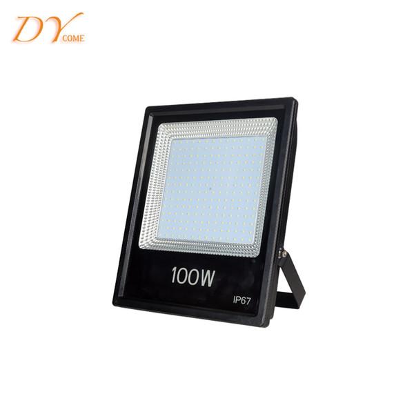 High Power 100W Outdoor LED Flood Lights IP67 Waterproof Pure White Warm white Light Flood Light AC85-265V