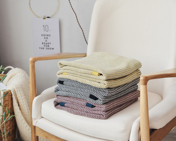 3 Color European Tricolor braiding cotton blanket cotton Baby Newborn knitted blanket sofa bedroom Thread Throw blanket