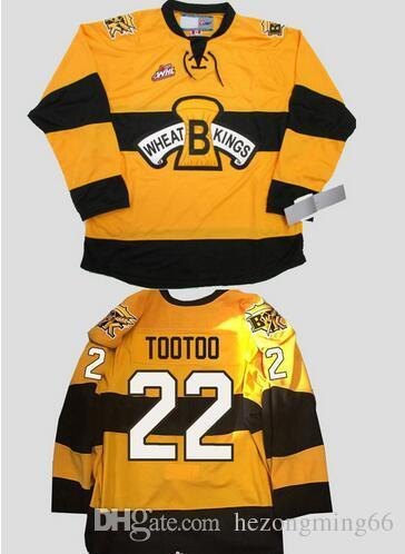 Brandon Wheat Kings 22 jordin tootoo Hockey Jersey Custom Plain Embroidery Stitched Customize any number and name College Jerseys