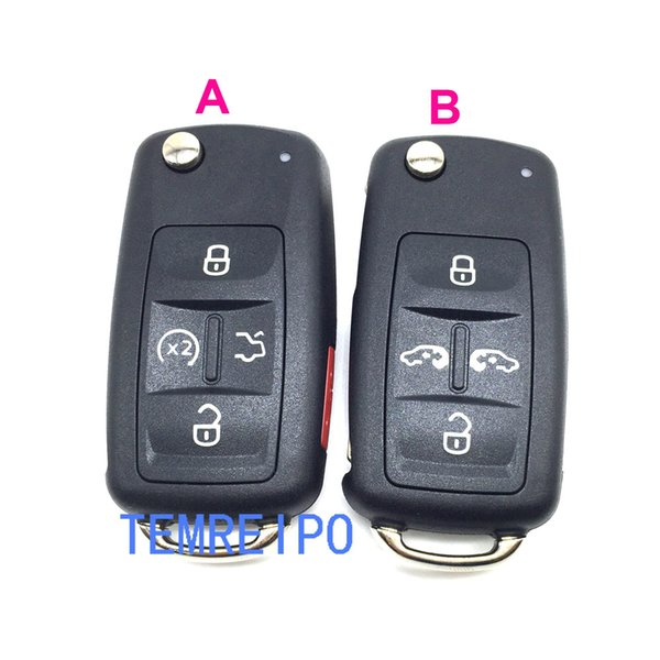 4+1 Buttons Replacement Flip Folding Remote Key Shell Case For VW Sharan Multivan Fob Key Cover