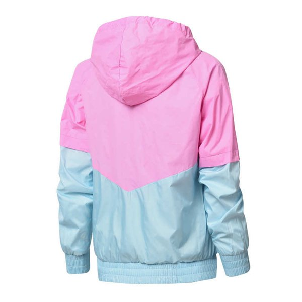 Hot Sell Women Windbreaker Designer Jackets Female Hoodie Zipper Fashion Hooded Jackets Coat Outdoor Sport Letter Plus Size L-2XL