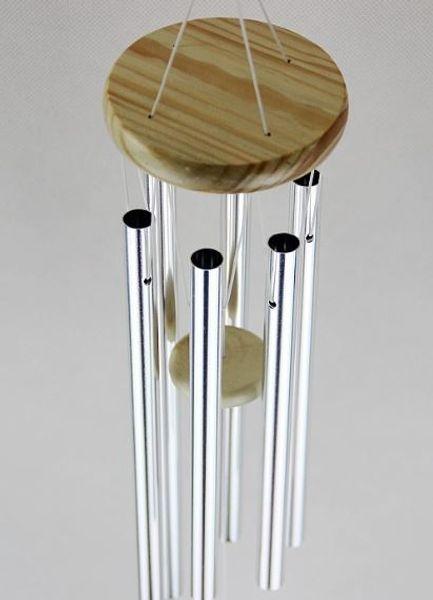 best selling Amazing Grace Deep Resonant Antique Metal Wooden 6 Tube Windchime Chapel Bells Wind Chimes Home Ornament Handicraft Gifts