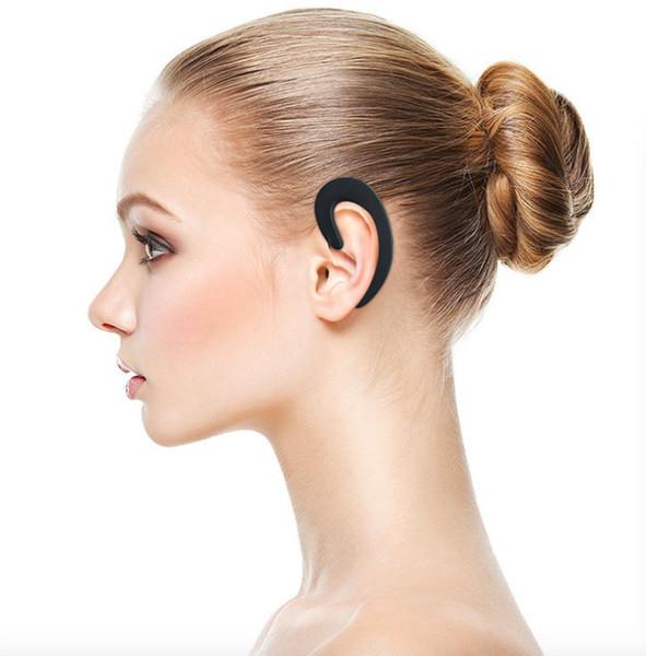 Drahtloser Bluetooth Kopfhörer-Knochen-Leitungs-Kopfhörer nicht im Ohr-drahtloser Ohrhörer-Kopfhörer mit Mikrofon für iPhone Samsung