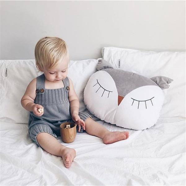 38 cm Bebek Dekorasyon Yastık Nordic Karikatür Baykuş Bebek Uyku Bebek Oyuncaklar Çocuk Yatak Odası Beşik Çadır Dekor Süsler Fotoğraf Sahne