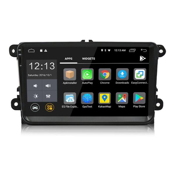 2 Din 9 pulgadas Android 8.0 Car DVD Player Navegación GPS Radio estéreo para VW / Volkswagen / Passat / Jetta / Tiguan / Touran / POLO / Golf / Skoda / Octavia / Sea