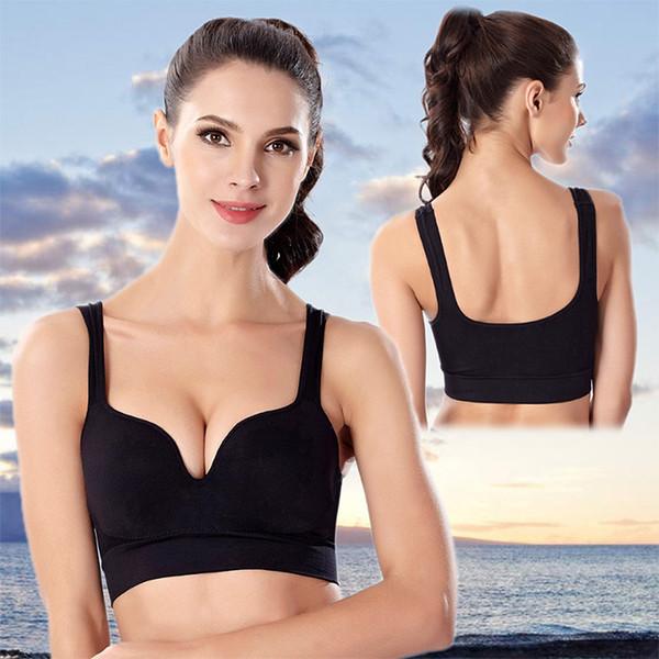 Neue 3D sammeln ohne Felgen sexy BH Eine Art nahtlose BH Yoga Lauf stoßfest Weste Sport Unterwäsche Frauen Freies Verschiffen