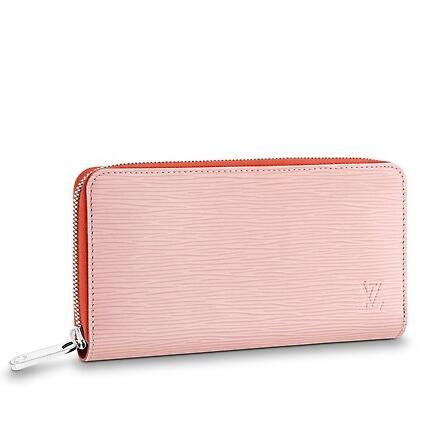 2019 M67266 pink Water ripple ZIPPY WALLET Real Caviar Lambskin Chain Flap Bag LONG CHAIN WALLETS KEY CARD HOLDERS PURSE CLUTCHES EVENING