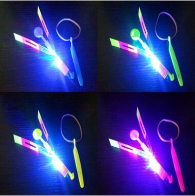 LED Arrow Helicopter LED Amazing Arrow Flying Helicopter Umbrella Parachute Kids Toys LED Light Christmas Party Favor CCA10053 2000pcs