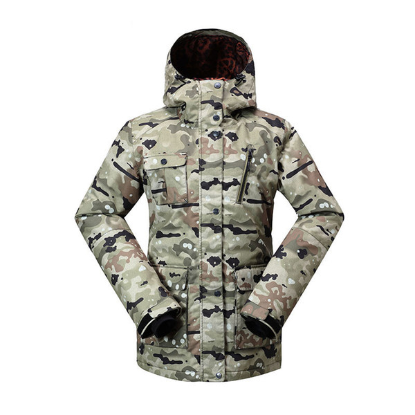 Genuine GSOU SNOW Lady Ski Suit Waterproof Windproof Breathable Warm Double Single Board Skiing Jacket Cotton Clothes Size XS-L