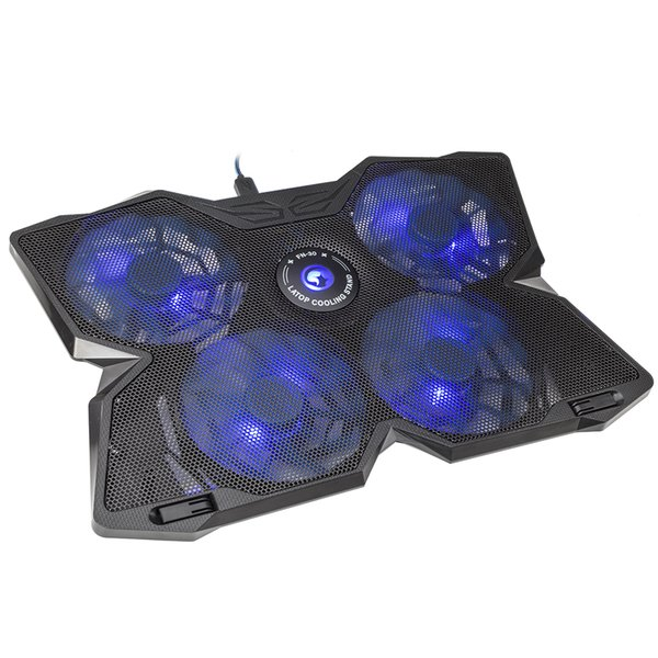 MARVO Cooling Fan LED Blue Light USB Quiet Cooling Pad Cooler with 5 Cooler Fans for up to 17 Inch Laptop Notebook FN30BL