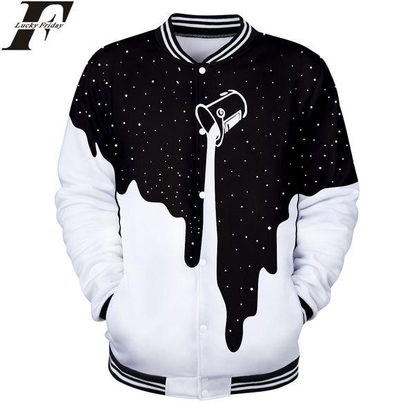 Spilled Milk Space Galaxy 3D Baseball Jacket Man/Women Regular Baseball Jacket Fashion Collage Clothes Plus Size