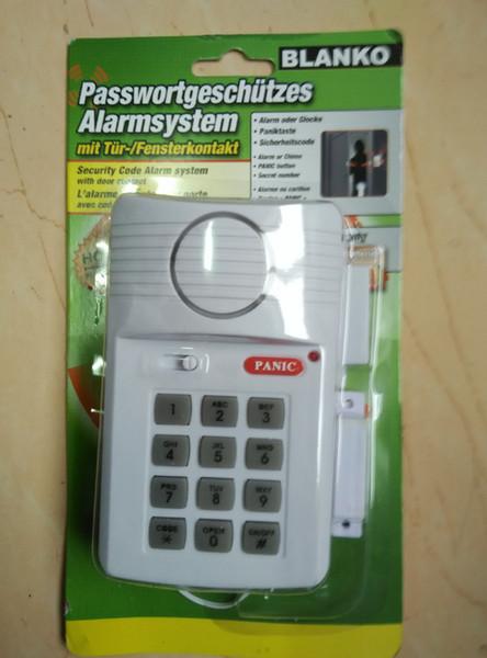 Sicherheits-Tastatur-Tür-Warnungssystem mit Panikknopf für Hauptschuppen-Garage Caravan 110dB für Tür-Hallen-Garage sofortige Verzögerung Chime