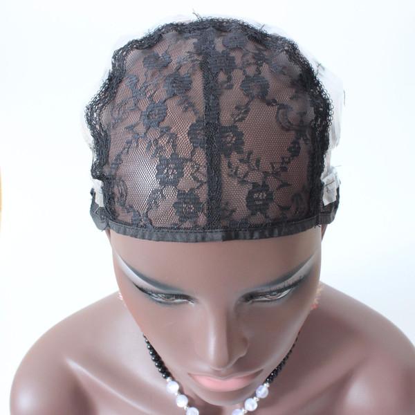 Justierbare spinnende Kappe für die Perücke, die mittlere Größen-Maschen-Spitze-Perückekappe für DIY Perücke herstellt, die Werkzeuge schwarze Farbe 5 PC / Los herstellt