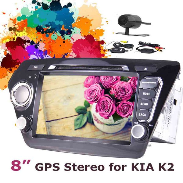Wireless Camera+8'' Andorid 7.1 GPS Head Unit Double 2 Din in dash car DVD Player Mirror Link Bluetooth USB/SD Port SWC