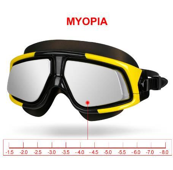 Copozz Mirrored Myopia Swimming Goggles Silicon Large Frame Swim Glasses Waterproof Anti Fog UV Eyewear Men and Women Mask