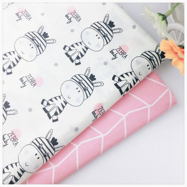 Zeber Baby Print Diy sewing patchwork quilting syunss cotton fabric tissue an meter tecido for dress baby bedding textile cloth