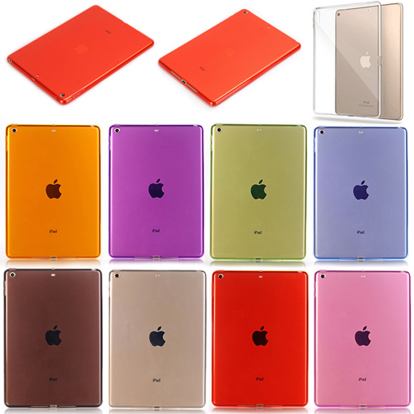 top popular Candy Color Crystal Clear Transparent Soft TPU Protective Back Case Cover For iPad 2 3 4 5 6 Air Pro 11 10.5 9.7 inch 2017 2018 Mini Mini4 2020