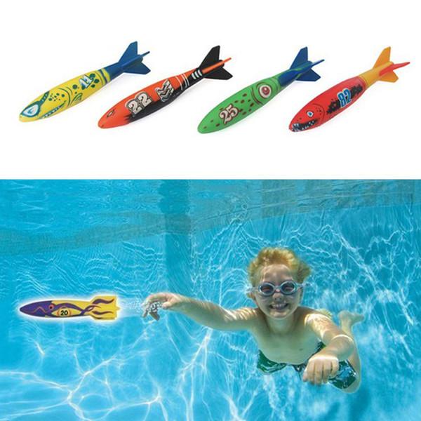 Açık yüzme havuzu fırlatma fırlatma glide oyuncak torpidolar 4 in 1 set yaz play su dalış oyuncak B41003
