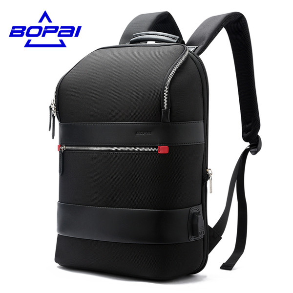 BOPAI 2017 New Autumn Design Backpacks for Men Casual Business Men's Fashion Backpack Travel Bag College Student School Bags