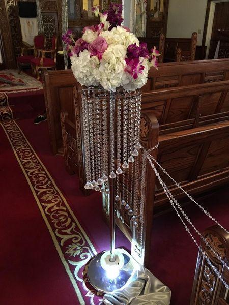 YENI moda kristal düğün çiçek standı geçit dekor düğün yol kurşun masa centerpieces olay parti dekorasyon 110 cm