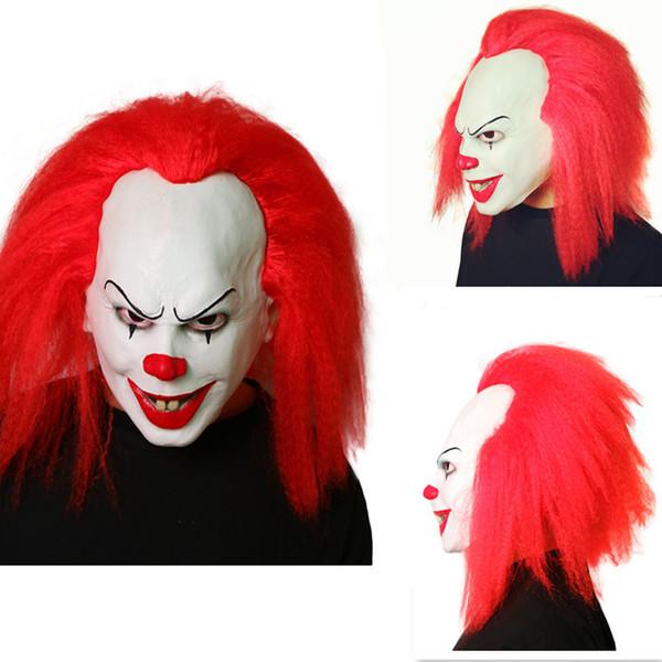 Stephen Kings es Máscaras de Pennywise de películas de terror de IT Slasher Films Smiley Joker Jinx el payaso Asesino Máscara de miedo Látex