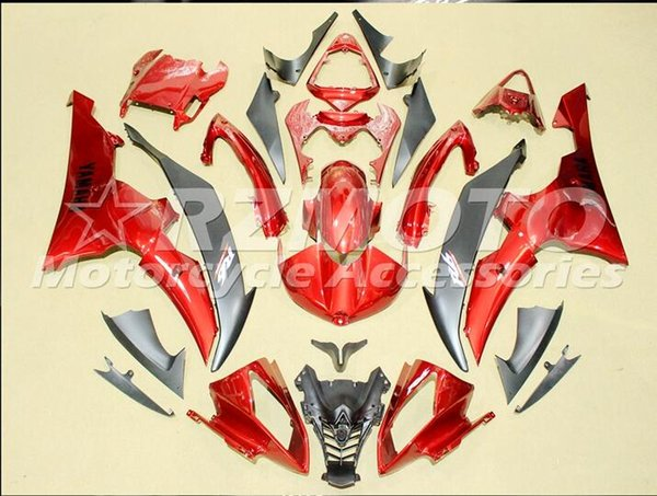 Injection mold New Fairings For Yamaha YZF-R6 YZF600 R6 08 15 R6 2008-2015 ABS Plastic Bodywork Motorcycle Fairing Kit White Red d15