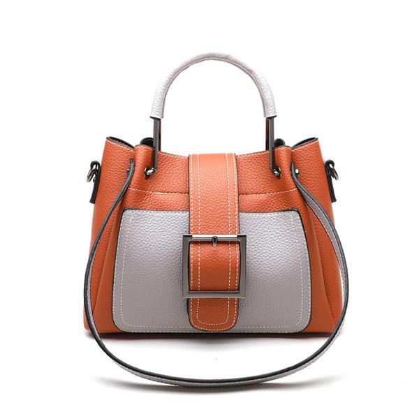 Fashion impact color bucket bag woman 2018 spring and summer new tide 100 women bag slanting single shoulder bag leisure handbag