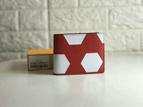 World Cup Limited Style Billetera de alta calidad Billetera doble patrón de fútbol billetera Bolsillo interno titular de la tarjeta de embrague titular de la tarjeta