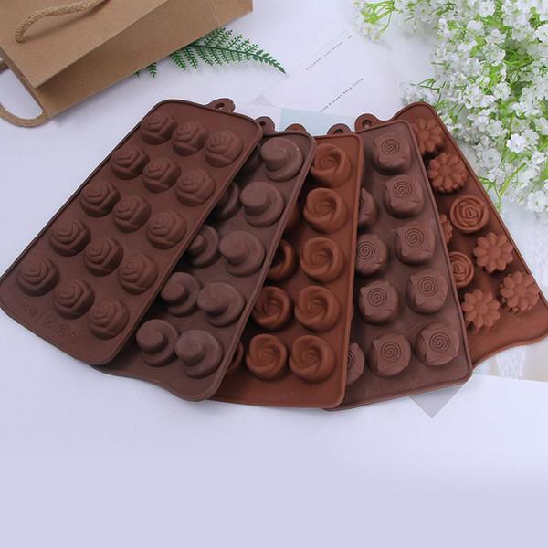 Diy Kitchen Mould Chocolates Food Grade Silicone Block Baking Cake Candy Mold Ice Lattice Cube Maker Tray Non Toxic 2 3hq ZZ