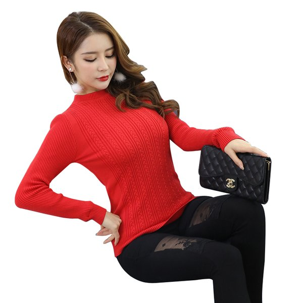 Autumn Winter Pullover Sweaters Women Casual Warm Long Sleeve Female Knitted Sweaters Pullover Sweater Lady