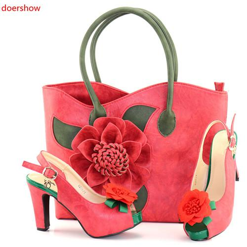 latest design italian shoes and bags set to match high quality fashion style women shoes! BC1-2